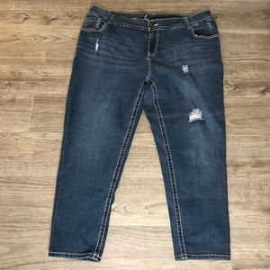 Lane Bryant ankle crop jeans
